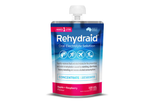 Rehydraid Oral Electrolyte Solution Concentrate 100ml - Apple Raspberry