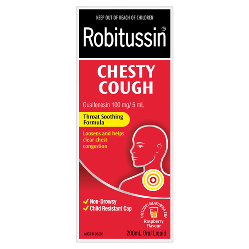 Robitussin Chesty Cough Oral Liquid 200ml - Raspberry