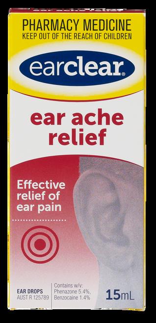 Earclear Ear Ache Relief Drops 15ml