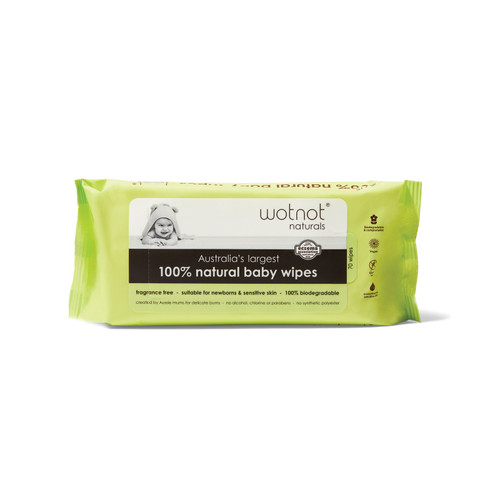 Wotnot Naturals Natural Baby Wipes 70 Pack