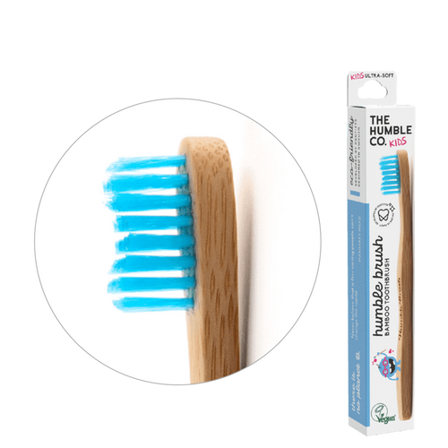 The Humble Co. Humble Brush Bamboo Toothbrush - Ultra Soft - Kids - Blue
