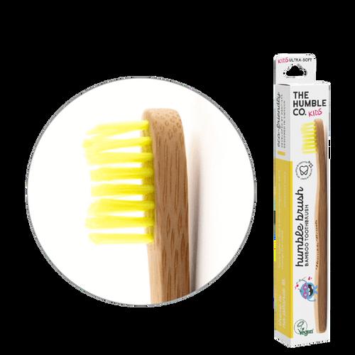 The Humble Co. Humble Brush Bamboo Toothbrush - Ultra Soft - Kids - Yellow