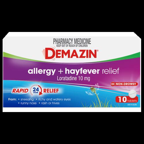 Demazin Allergy + Hayfever Relief 10 Tablets
