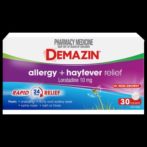 Demazin Allergy + Hayfever Relief 30 Tablets