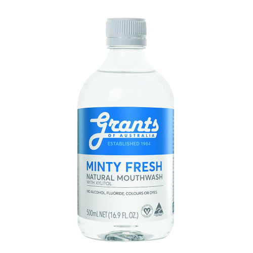 Grants of Australia Minty Fresh Xylitol Natural Mouthwash 500ml