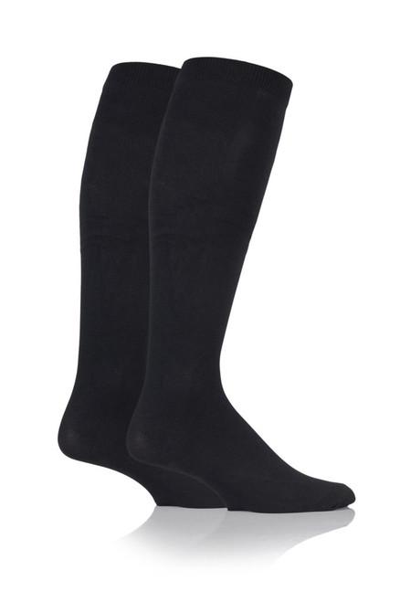 Aussie Sock Shop IOMI Mens Energising Socks Size 6-11 Black 2 Pack