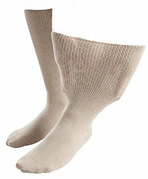 Aussie Sock Shop IOMI Ladies Extra Wide Socks Size 4-7 Beige 1 Pack