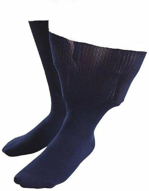 Aussie Sock Shop IOMI Ladies Extra Wide Socks Size 4-7 Navy 1 Pack