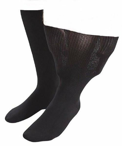 Aussie Sock Shop IOMI Mens Extra Wide Socks Size 9-11 Black 1 Pack