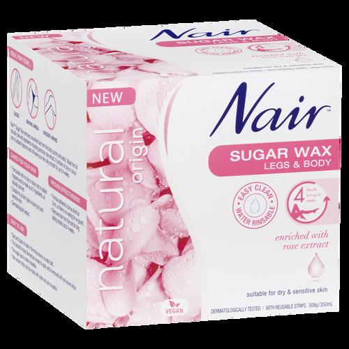 Nair Sugar Wax 508g packet front