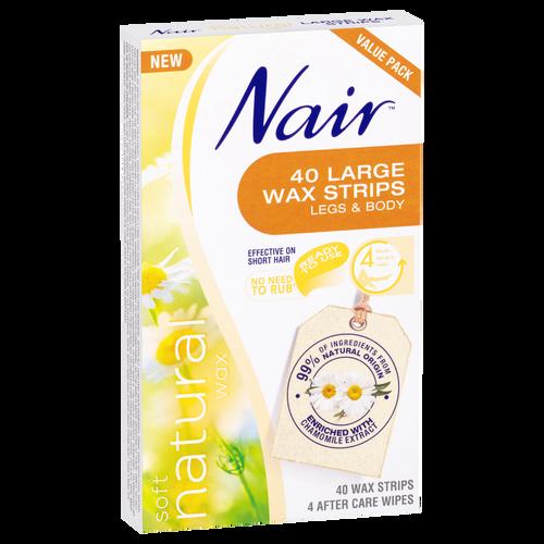 Nair Soft Natural Wax 40 Large Strips