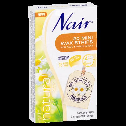 Nair Soft Natural Wax 20 Mini Strips