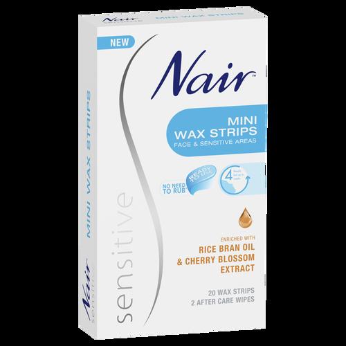 Nair Sensitive Mini Wax Strips 20 Pack