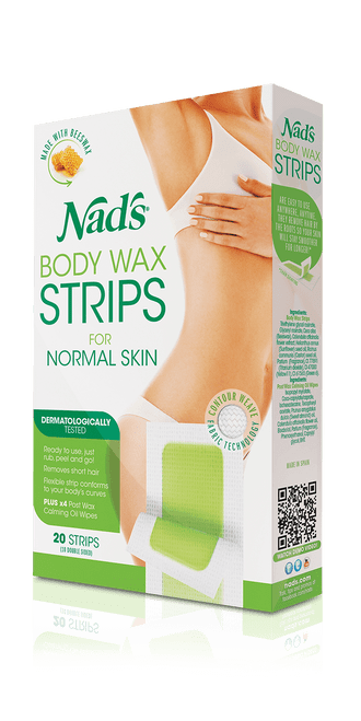 Nad's Hair Removal Body Wax Strips for Normal Skin 20 Strips