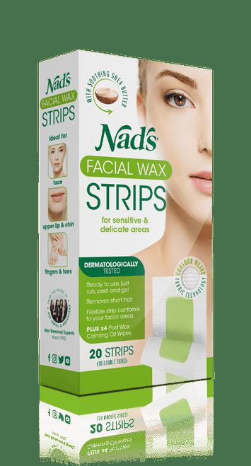 Nad's Hair Removal Facial Wax 20 Strips