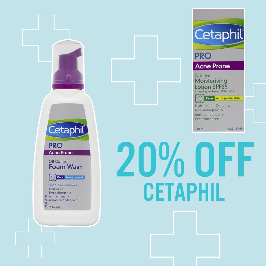 20% off cetaphil