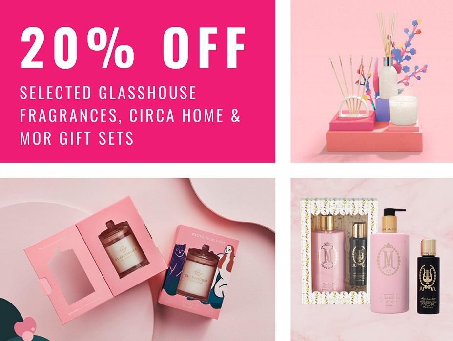 20% off Selected Glasshouse Fragrances, Circa Home & Mor Gift Sets