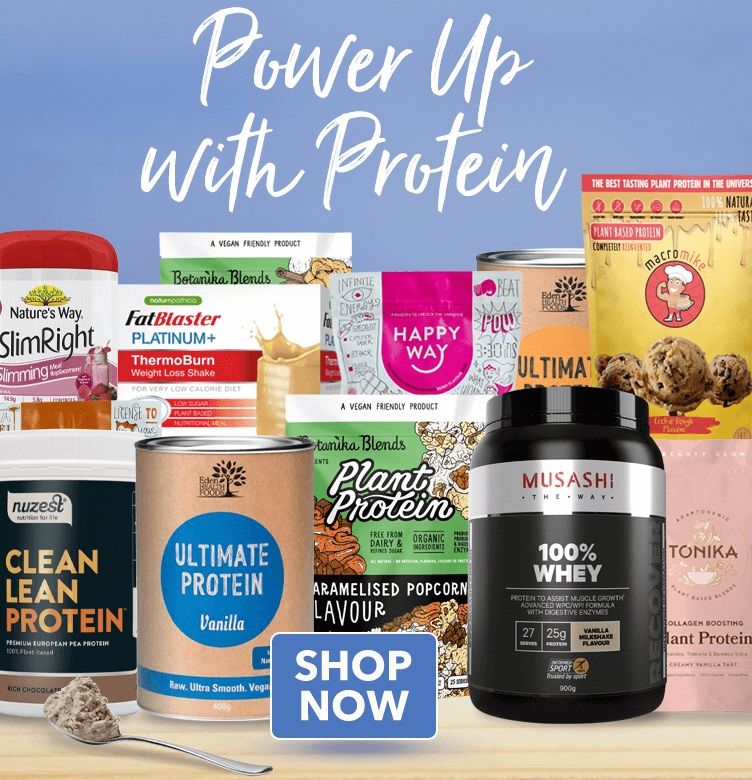 Power up with protein - shop now