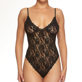 Signature Lace Thong Bodysuit