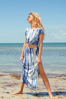 Blue Beach Maxi Skirt SS20