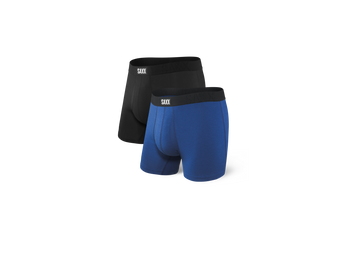 Undercover Boxer Brief Fly  - Blk/City Blue-2Pk