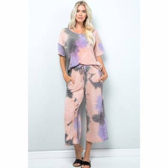 Tie Dye Top & Wide Leg Set