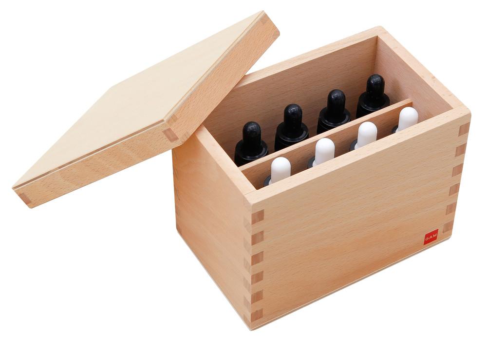 Tasting bottles by Gonzagarredi Montessori