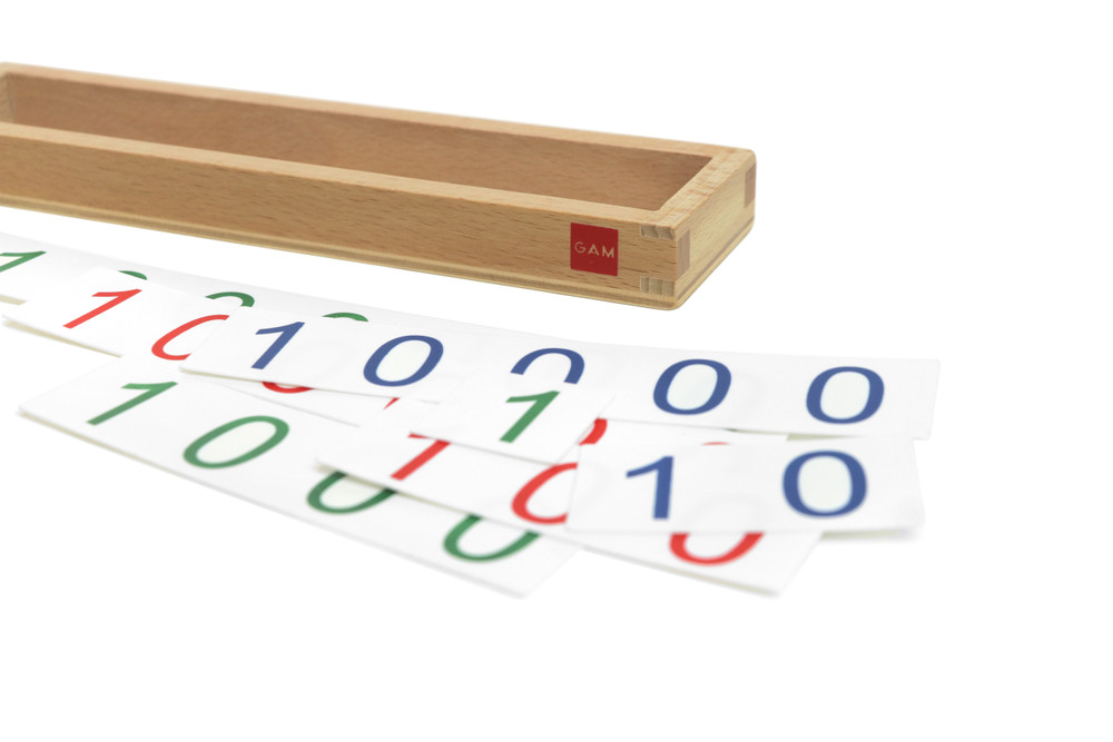 Geometric Hierarchy Number Cards by Gonzagarredi Montessori
