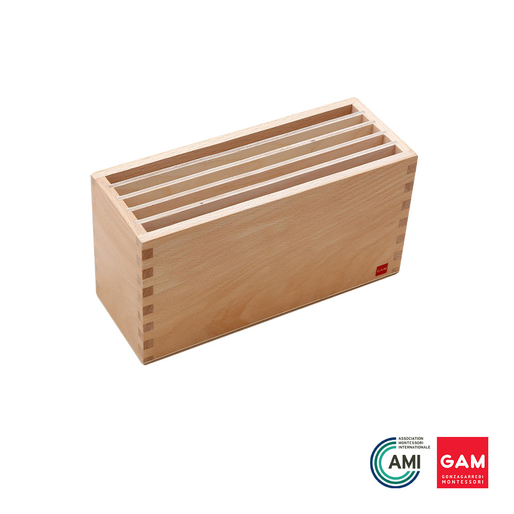 Box For Land And Water Form Cards by Gonzagarredi Montessori