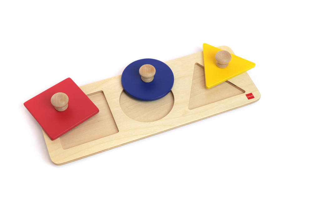 Multiple Shape Puzzle Set by Gonzagarredi Montessori