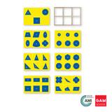 Geometric Insets: Blue and Yellow by Gonzagarredi Montessori