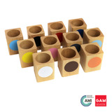 Colored Inset Pencil holders. by Gonzagarredi Montessori