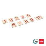 Printed numerals 1-10 by Gonzagarredi Montessori