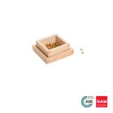 100 Golden Bead Units with box by Gonzagarredi Montessori
