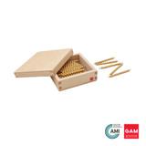45 Golden Bars Of 10 W/Box by Gonzagarredi Montessori
