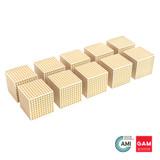 Wooden Cube of 1000 by Gonzagarredi Montessori