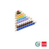 Colored Bead Stair 1-9, 1 Set by Gonzagarredi Montessori