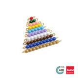 Colored Bead Stair 1-10, 1 Set by Gonzagrredi Montessori