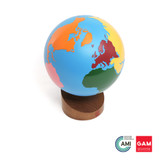 Globe Of The Continents: Colored by Gonzagarredi Montessori