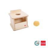 Imbucare Box With Knit Ball by Gonzagarredi Montessori