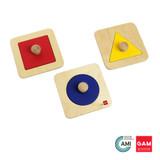 Single Shape Puzzle Set by Gonzagarredi Montessori