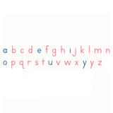 Medium Movable Alphabet: US PRINT; Red/Blue