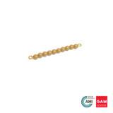 One Golden Bead Bar Of 10: Individual Beads (Nylon) by Gonzagarredi Montessori