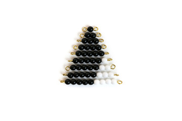 Black And White Bead Stair: 1 Set by Gonzagarredi Montessori