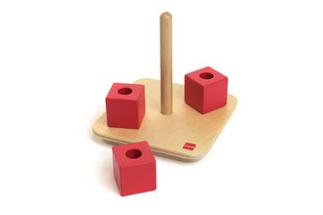 Cubes On Vertical Dowel by Gonzagarredi Montessori