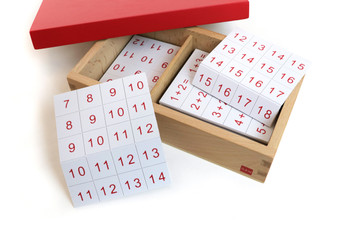 Addition Equations and Sums Box by Gonzagarredi Montessori