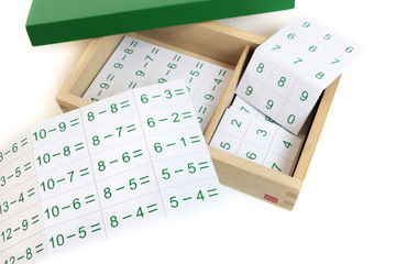 Subtraction Equations and Differences Box by Gonzagarredi Montessori