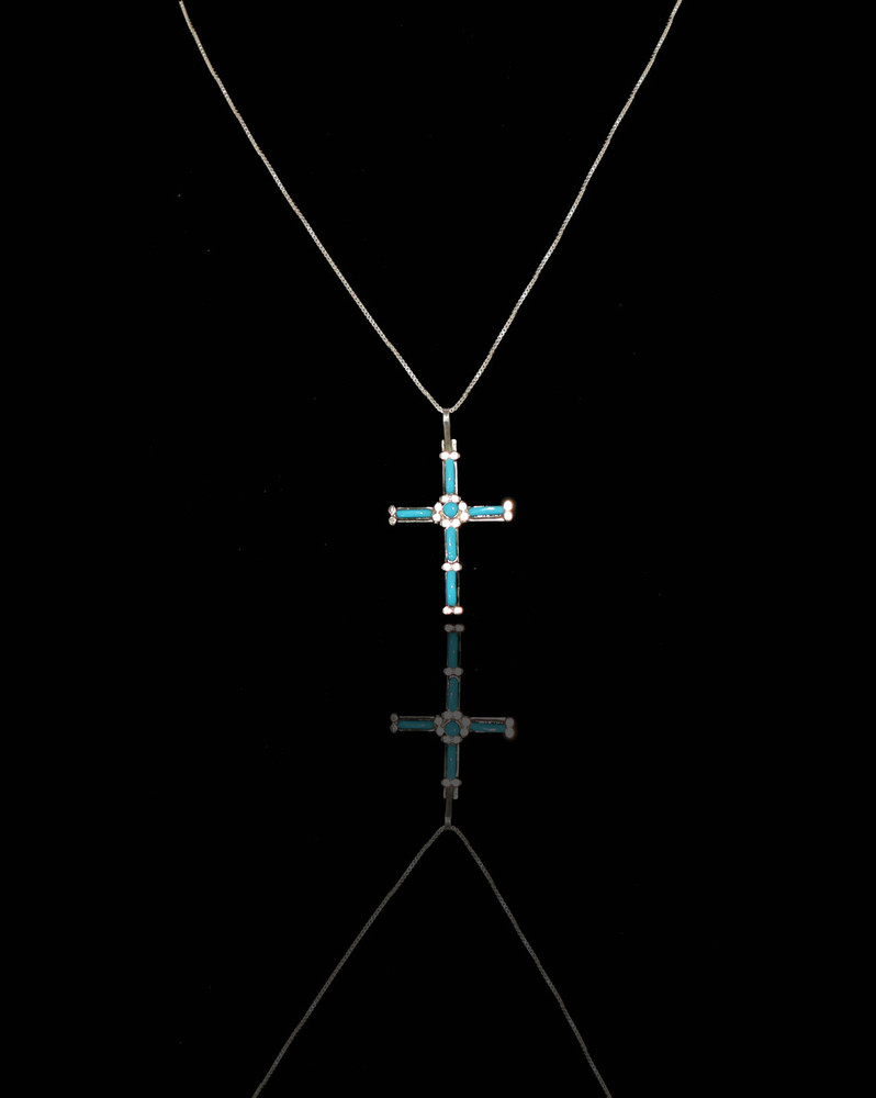 Pelipa Needle Point Turquoise & Sterling Silver Cross