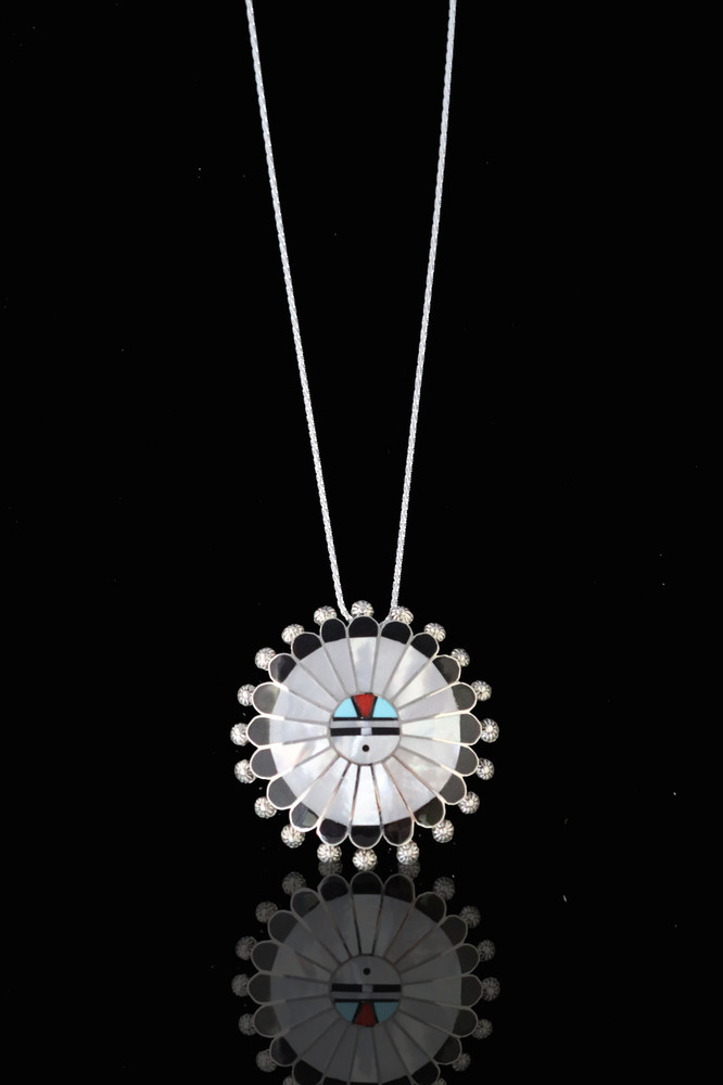 Fala Inlay Sunface Pendant White