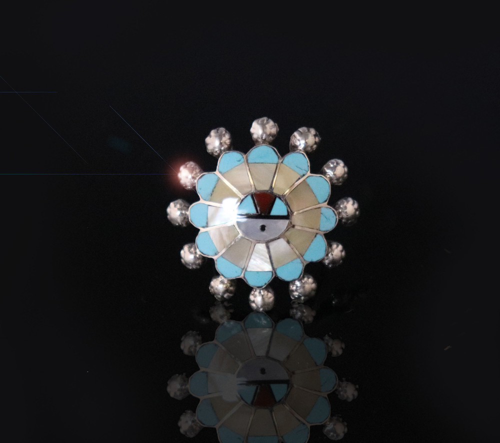 Fala Sunface Ring Off-White  Size 7